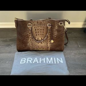 Brahmin Weekender Purse/Bag RARE COLOR LATTE